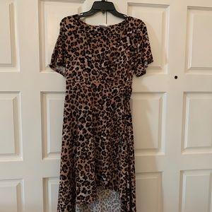 Motherhood Nursing Dress in Cheetah Print